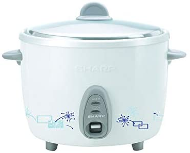 SHARP 2.8L 920W Non-stick Rice Cooker with Steamer - WHITE, KSH-128 - 2071MALL