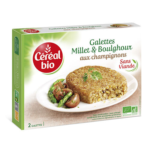 CEREAL BIO ORGANIC Millet and mushrooms steaks 200G - 2071MALL
