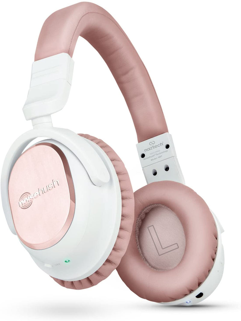 Naztech I9 BT ANC Headphones, White and Rose Gold - 13797 - 2071MALL