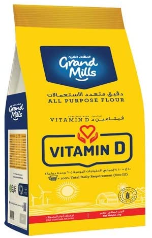 GRAND MILLS All Purpose Flour Vitamin D (1kg) - 2071MALL