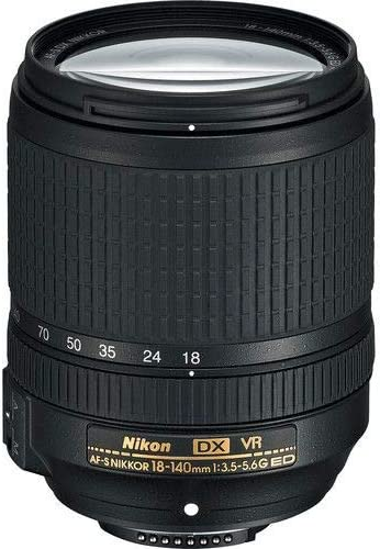 Nikon Nikkor AF-S DX 18-140mm f/3.5-5.6G ED VR Interchangable Lenses  Black - 2071MALL