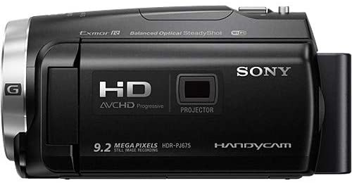 Sony HDR-PJ675 Handycam with Built-in Projector, Black - 2071MALL
