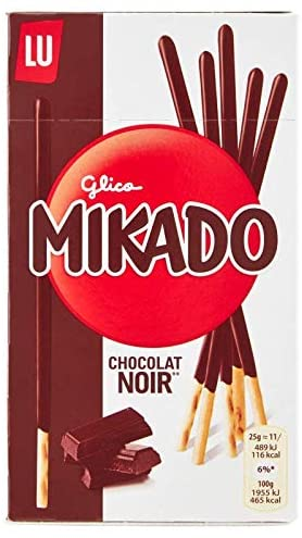 LU Mikado Dark Chocolate Coated Sticks, 75 gm