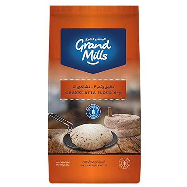 GRAND MILLS Flour No.3 Chakki Atta (5kg) - 2071MALL