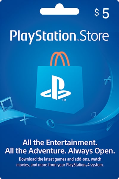 PlayStation Store UAE $5 US Dollar (USD)/Account details will be sent via email within 24 - 48 hours. Prepaid Only - 2071MALL