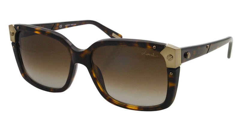 Lanvin Square Frame Shape Unisex Havana Brown Color Sunglasses and Lens Brown Color - SNL504-57-722 Size 57-16-140mm - 2071MALL