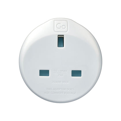 Go Travel Adaptor UK EU Adaptor - White, 524 - 2071MALL