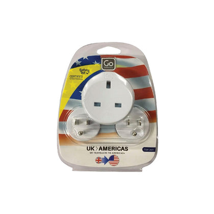 Go Travel Adaptor (UK-USA) Triple - White, 536 - 2071MALL