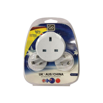 Go Travel Adaptor 537 (UK-AUS/China) Triple - White, 537 - 2071MALL
