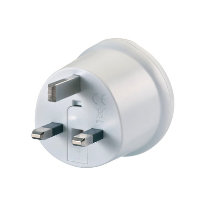Go Travel Adaptor (EU-UK) - White, 540 - 2071MALL