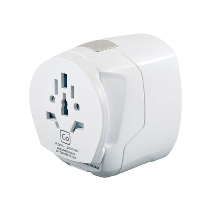 Go Travel Adaptor UK-Worldwide Adaptor + USB - White, 639 - 2071MALL