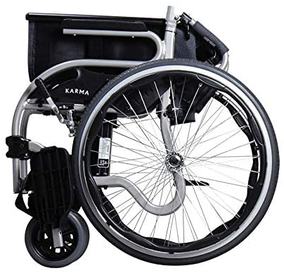 Karma Star 2 Self Propel Wheelchair  Silver with FREE Small Side Bag - 2071MALL