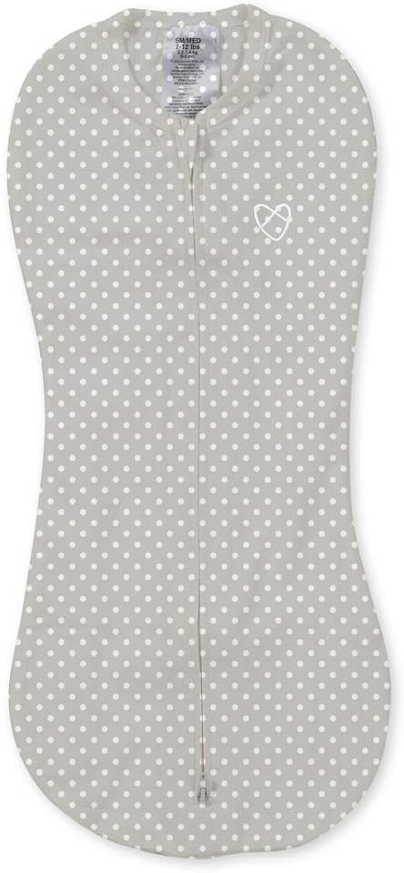 Summer Infant-Swaddle Pod (new Born)-Grey/White Dot-1 Pk, SI 56496DSV - 2071MALL