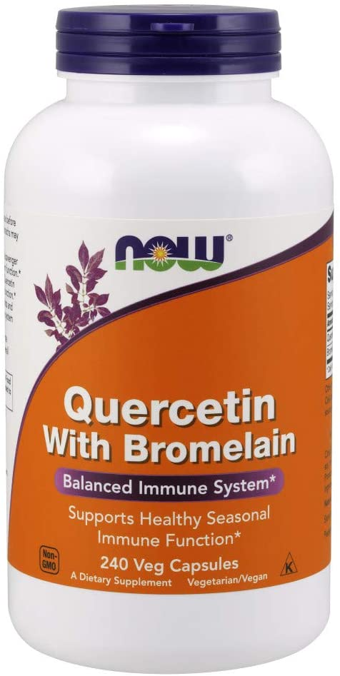 NOW Quercetin with Bromelain, Balanced Immune System (240 Veg Capsules)