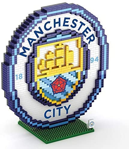 Foco Brxlz Football Club Mini Crest Building Set 3D Construction Toy - Manchester City - 2071MALL