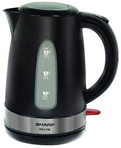 Sharp 2200W Electric Kettle With Spout Filter, Black, 1.5 Liter - EKJ-156-3 - 2071MALL