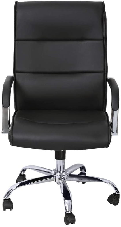Galaxy Design Office Chair Metal Body with Wheels - Black, GDF-9951 By Galaxy - 2071MALL