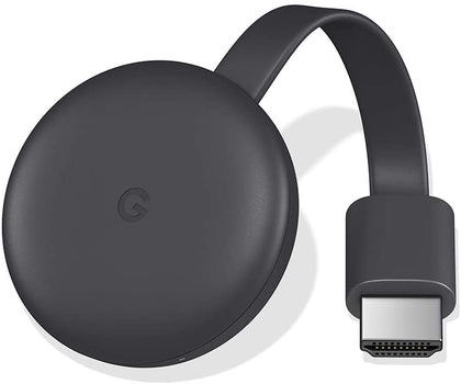 Google Chromecast 3 Streaming Media Device- 1000+ Andriod & iPhone Apps (Global Version) - Black, GA00439-GB - 2071MALL