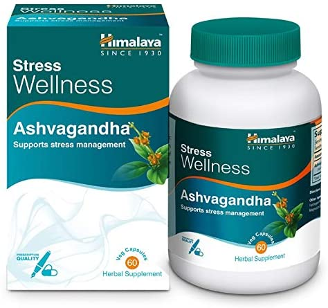 Himalaya Ashvagandha, Relieves Stress and Boosts Energy, Ashwagandha Veg. Caps, 60 Tablets - 2071MALL
