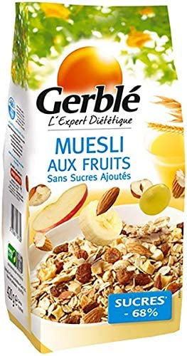 GERBLE NO ADDED SUGAR Fruit muesli  420G - 2071MALL