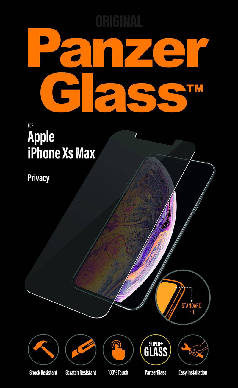 Panzerglass - Standard Fit Screen Protector For Iphone Xs Max Privacy - Clear, PNZP2639 - 2071MALL