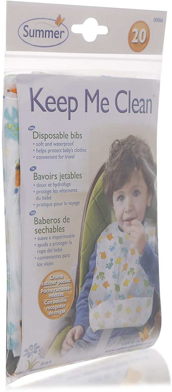 Summer Infant Keep Me Clean® Disposable Bibs 20 Pk , SI 00066 - 2071MALL