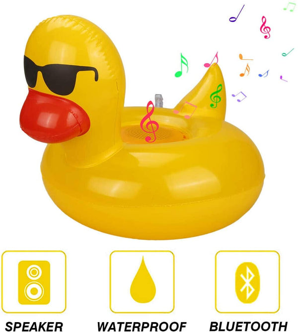 Waterproof Bluetooth Speaker IP6/7 Floating Speaker Inflatable Children's Toy Gift Swim Ring(Include Air Pump) - 2071MALL