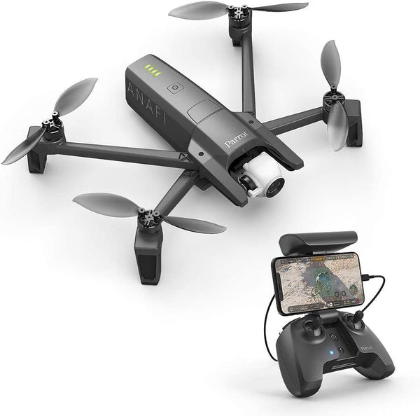 Parrot Pf728000 Anafi Foldable Quadcopter Drone With 4K Hdr Camera, Compact, Silent & Autonomous Dark Grey - 2071MALL