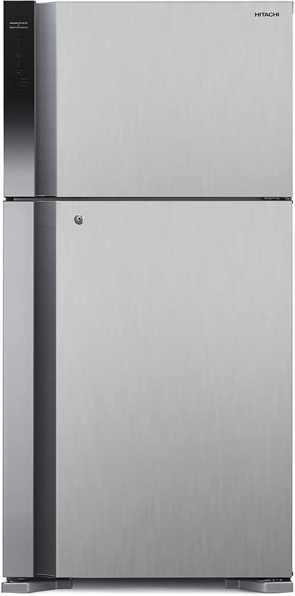 Hitachi Big 2 Refrigerator RV715PUK7KPSV 710L Platinum Silver - 2071MALL