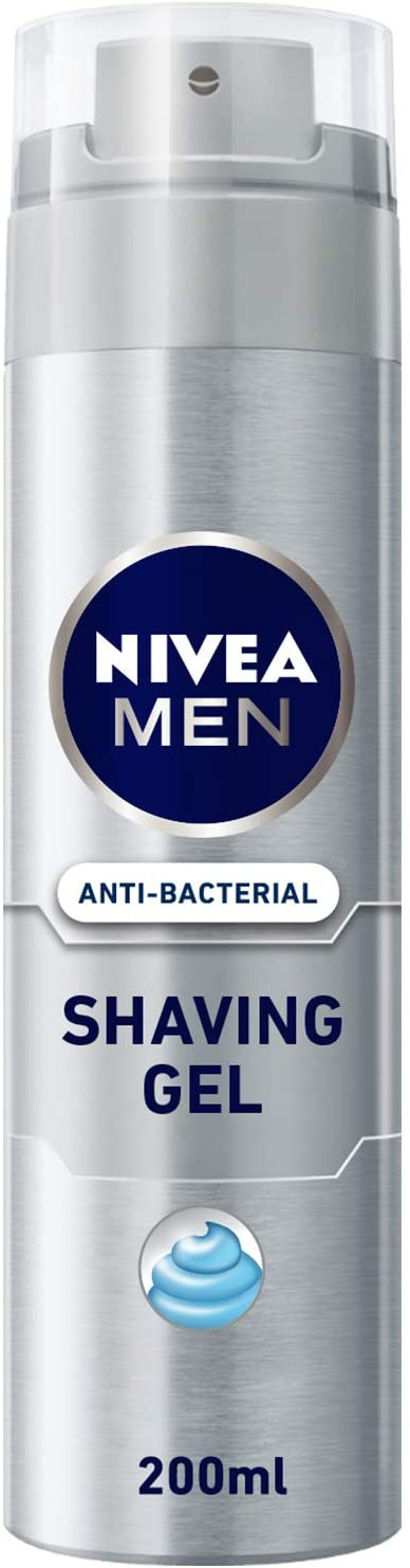 Nivea Men Silver Protect Anti Bacterial Shaving Gel 200ml - 2071MALL