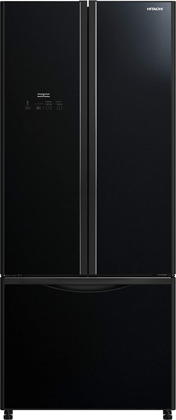 Hitachi 465L ,French Bottom Freezer, Inverter Control, Glass Black, RWB710PUK9GBK ,1 Year Warranty - 2071MALL
