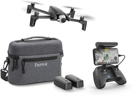 Parrot Anafi Drone Extended Pack With 2 Additional Batteries, Carrying Bag, Additional Propeller Blades And Others - 4K Hdr Camera With 180° Swivelling Platform Compact And Foldable, Dark Grey - 2071MALL