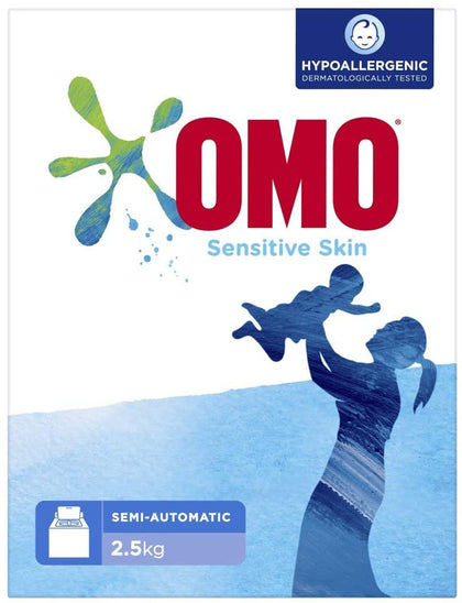 OMO Laundry Detergent Powder Sensitive Skin, 2.5 Kg (Twin Pack) - 2071MALL