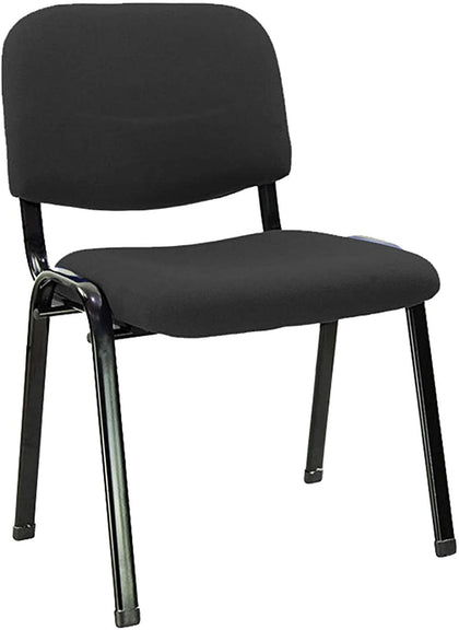 Galaxy Design Visitor Chair with Fabric Padding, Black - 2071MALL