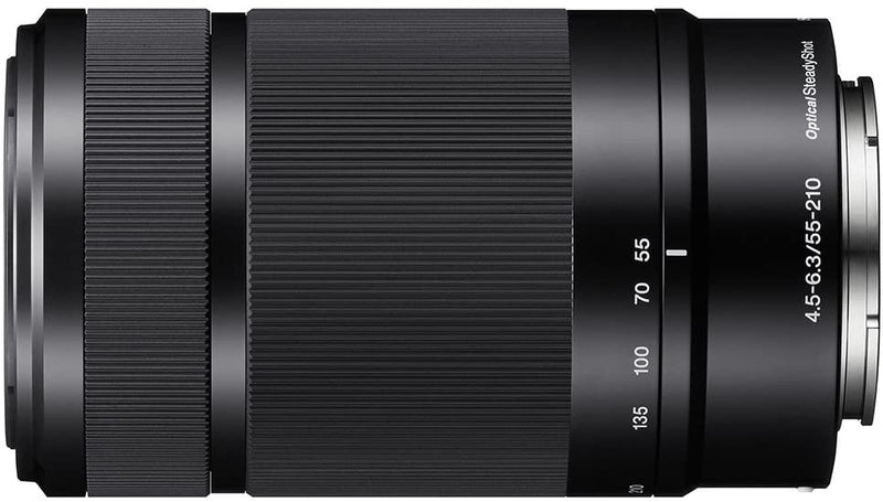 Sony E 55-210mm f/4.5-6.3 OSS Lens, Black - 2071MALL
