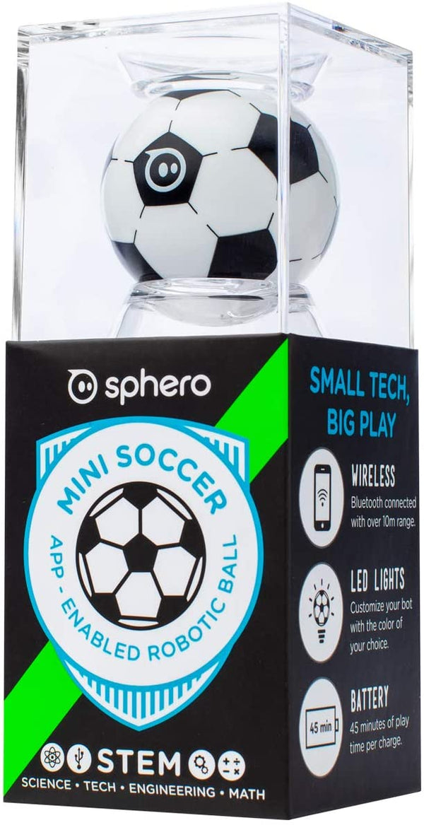 Sphero Mini App-Enabled Programmable Robot Ball - Stem Educational Toy For Kids Ages 8 & Up - Drive, Game & Code Play & Edu App (Soccer) - 2071MALL