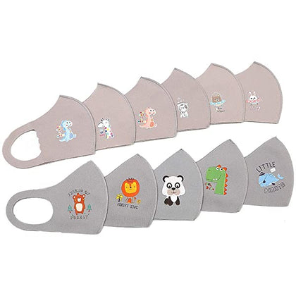 Kids Mix Cartoon Printed Elastic Face Mask (10 pcs) - 2071MALL