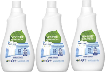 Seventh Generation Plant-based Concentrated Fabric Detergent Liquid Unscented, 1L (Pack of 3) - 2071MALL