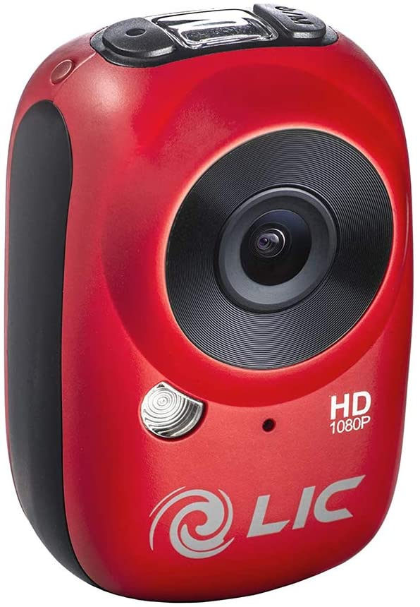 Liquid Image EGO Series Mountable Sport Video Camera with Wi-Fi, 30FPS & 135 Degree Wide Angle Recording Capabilities HD1080P - For iOS & Android - Red - 2071MALL