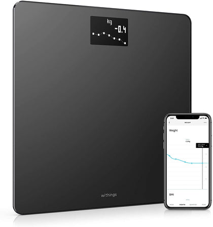 Withings | Body - Smart Weight & Bmi Wi-Fi Digital Scale With Smartphone App, Wbs06-Black - 2071MALL