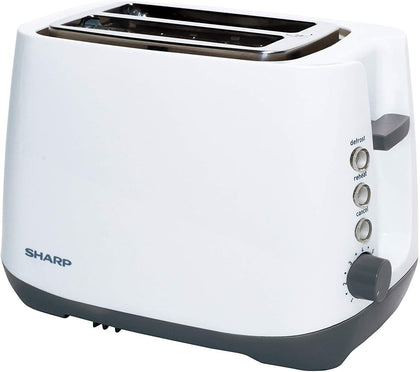 SHARP 2 SLICE 850W Cool Touch Housing Toaster - White, KZ-T11-W3 - 2071MALL