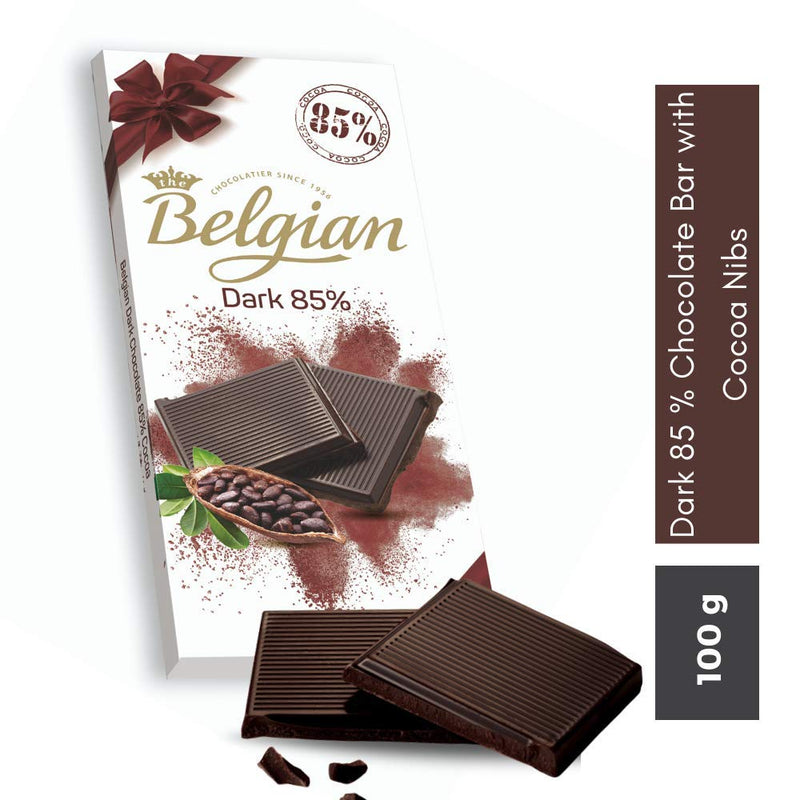 Belgian 85% Dark Chocolate, 100g - 2071MALL