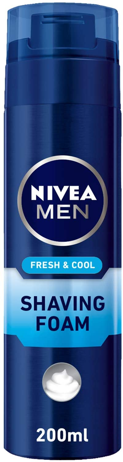 Nivea Men Fresh & Cool Shaving Foam 200ml - 2071MALL
