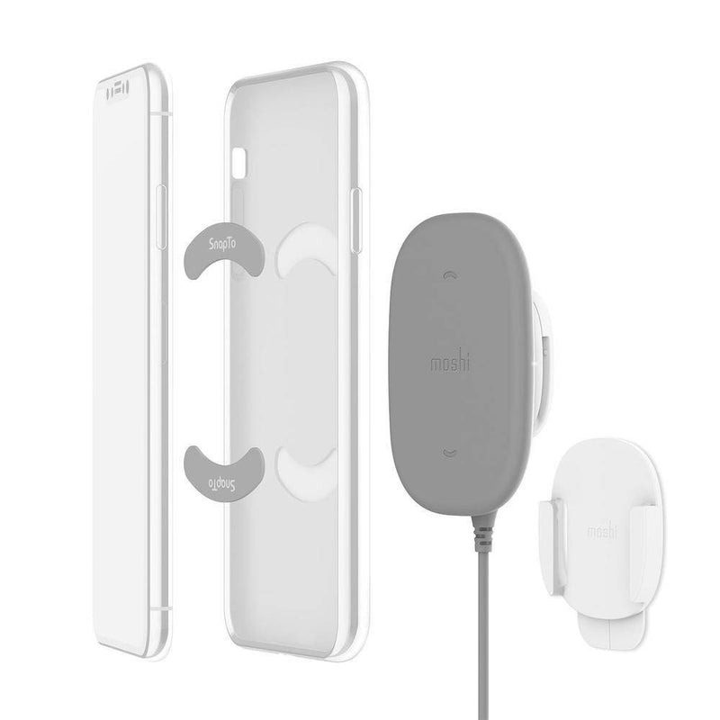 Moshi - SnapTo Magnetic Wireless Charger - Gray, MSHI-L-122011 - 2071MALL