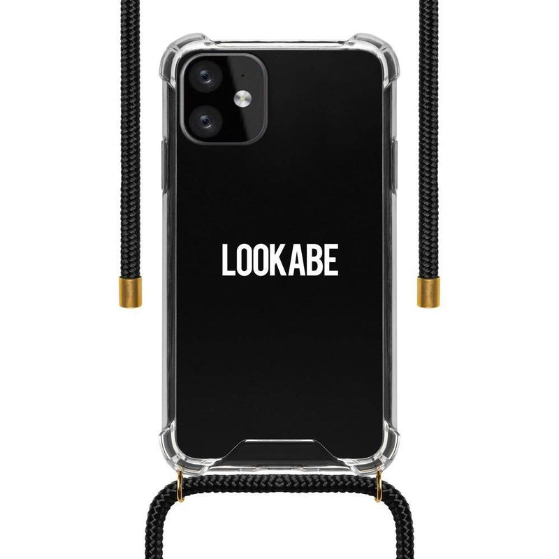 Lookabe - Necklace Clear Case + Black Cord - iPhone 11 LOO-027 Black, LOO-027 - 2071MALL