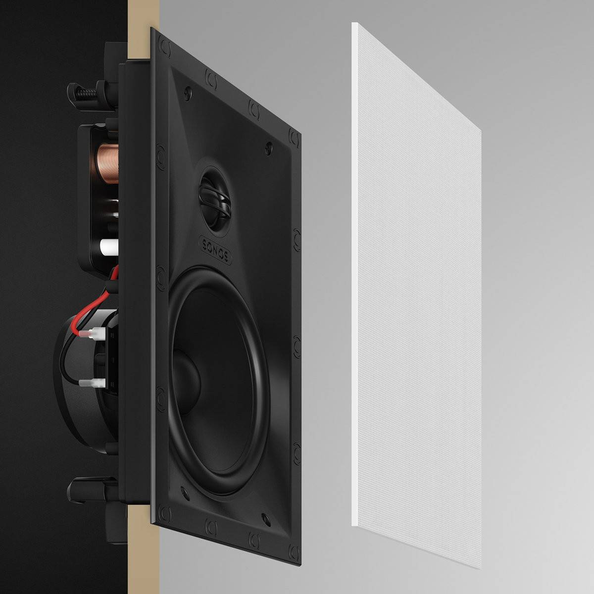 Sonos INWLLWW1 In-Wall Speakers - Pair of Architectural Speakers by Sonance for Focused Listening - 2071MALL