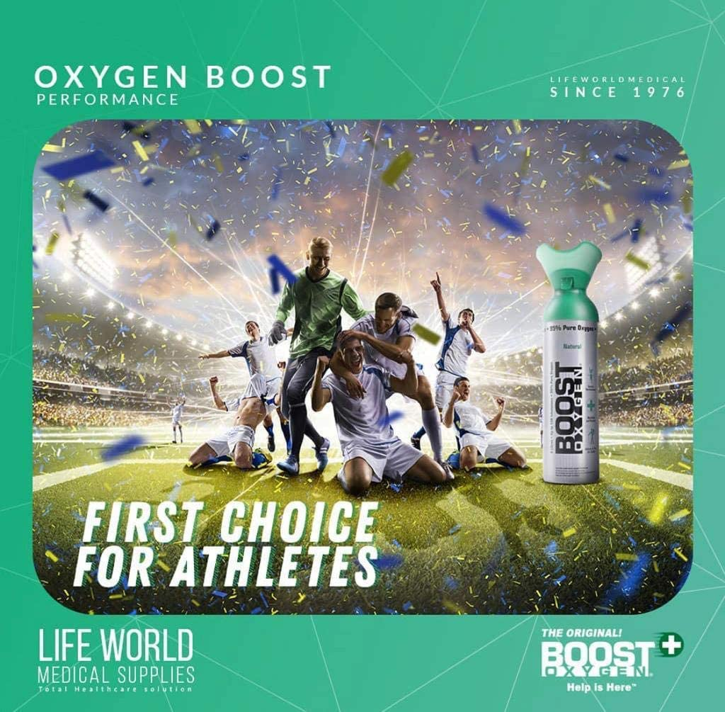 Boost Oxygen 9Liter Pure Pocket Sized Oxygen Supplement Portable Canister Of Clean Oxygen Increases Endurance Recovery Mental Acuity And Performance 1 set of 4pcs. - 2071MALL