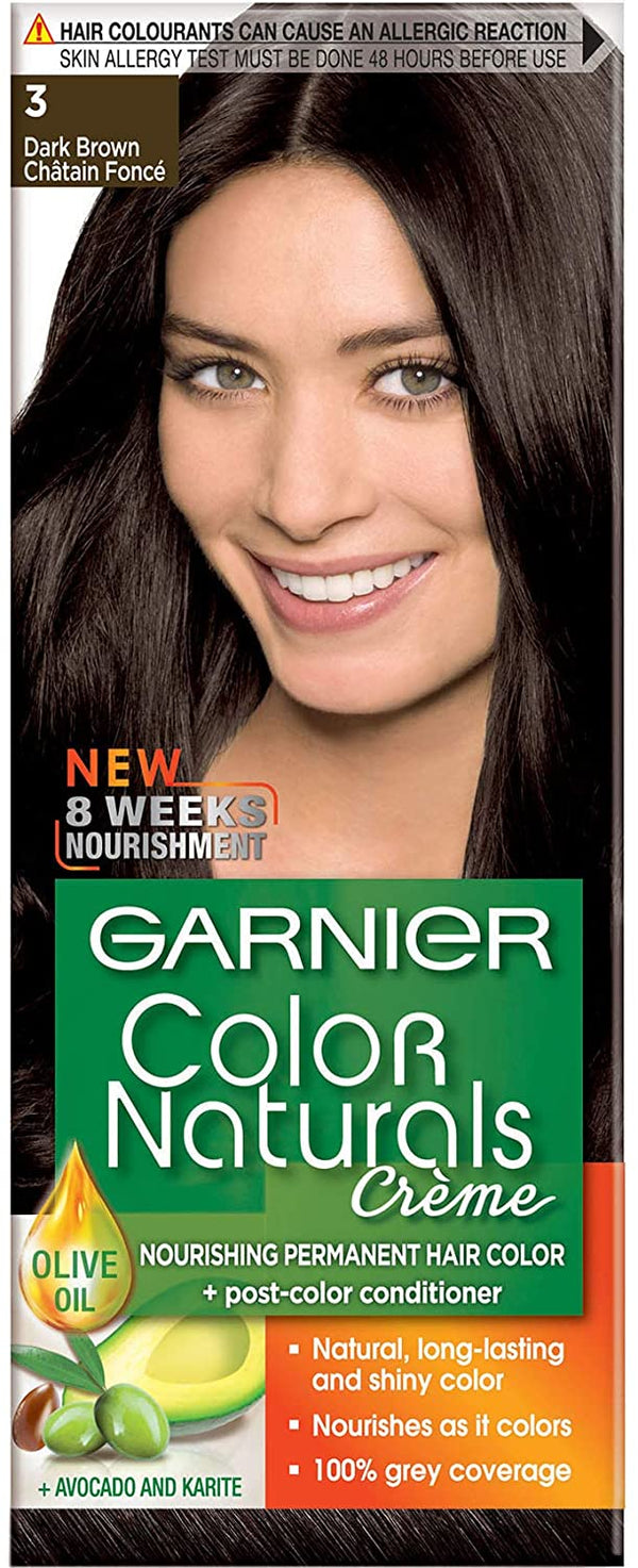 Garnier Color Naturals - 3 Dark Brown - 2071MALL