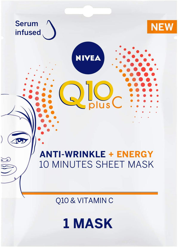 Nivea Face Q10 Plus C Anti Wrinkle + Energy  Sheet Mask 1Pc - 2071MALL