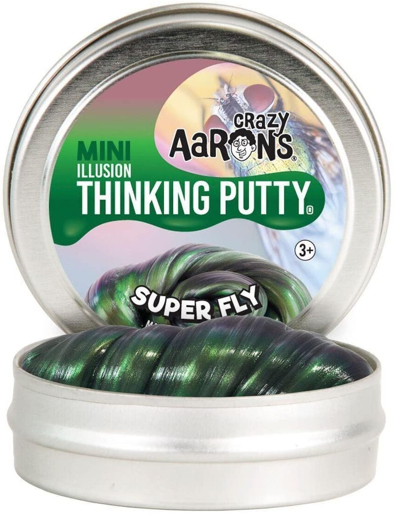 "Crazy Aaron'S Thinking Putty Super Fly Super Illusions Putty, Mini 2"" Tin - Multi-Color, 19962195259 - 2071MALL"